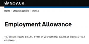 Employers Allowance